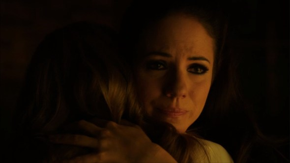 Bo and Kenzi hug in Like Father, Like Daughter