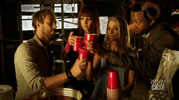 Dyson, Kenzi, Lauren and Hale Cheers in Groundhog Fae