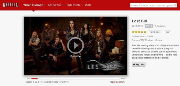 Lost Girl on Netflix
