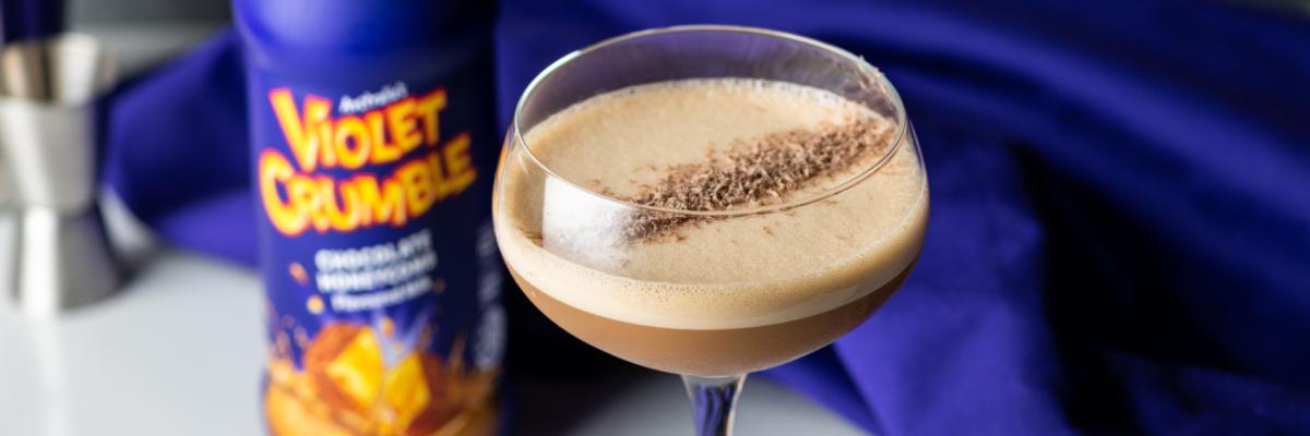 Violet Crumble martini