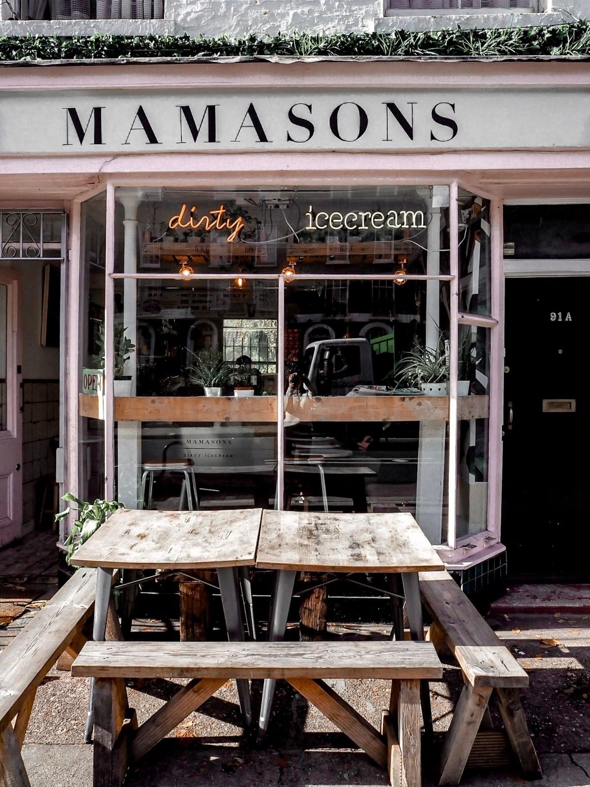 Mamasons dirty ice cream london