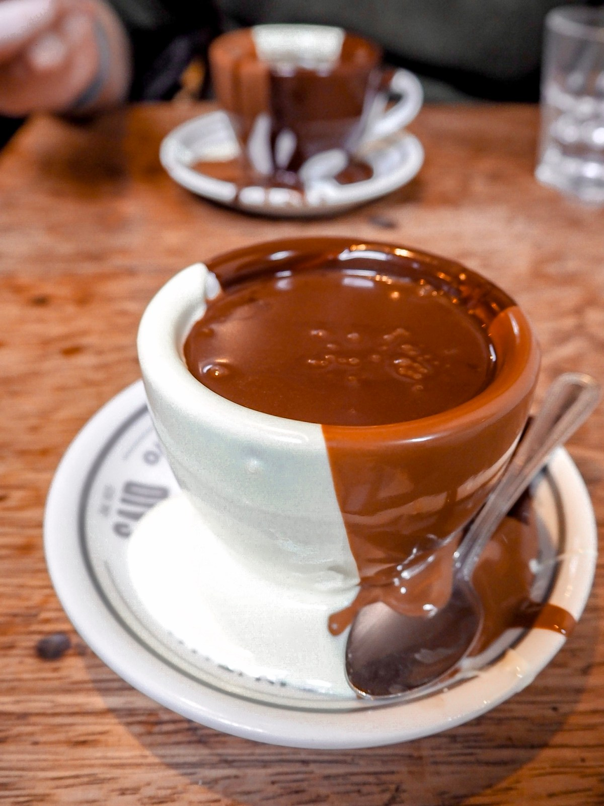 chocolate covered cup at said london