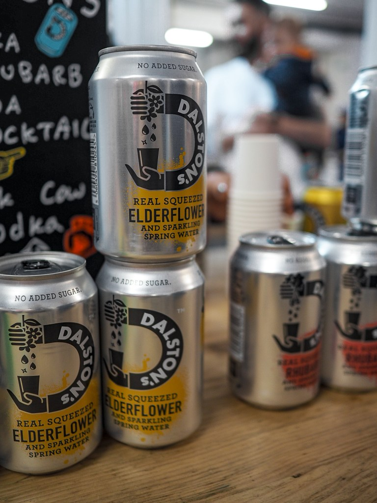 Dalston light soda in elderflower flavour