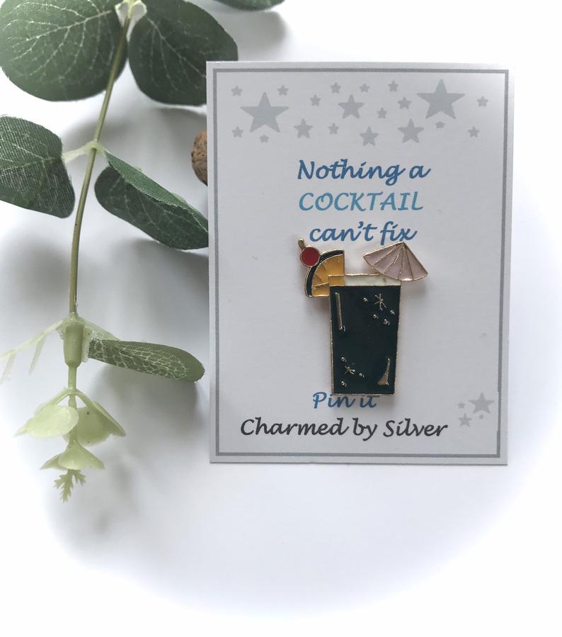 cocktail pin badge