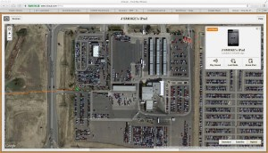 Smoke's ipad current location is at Avis