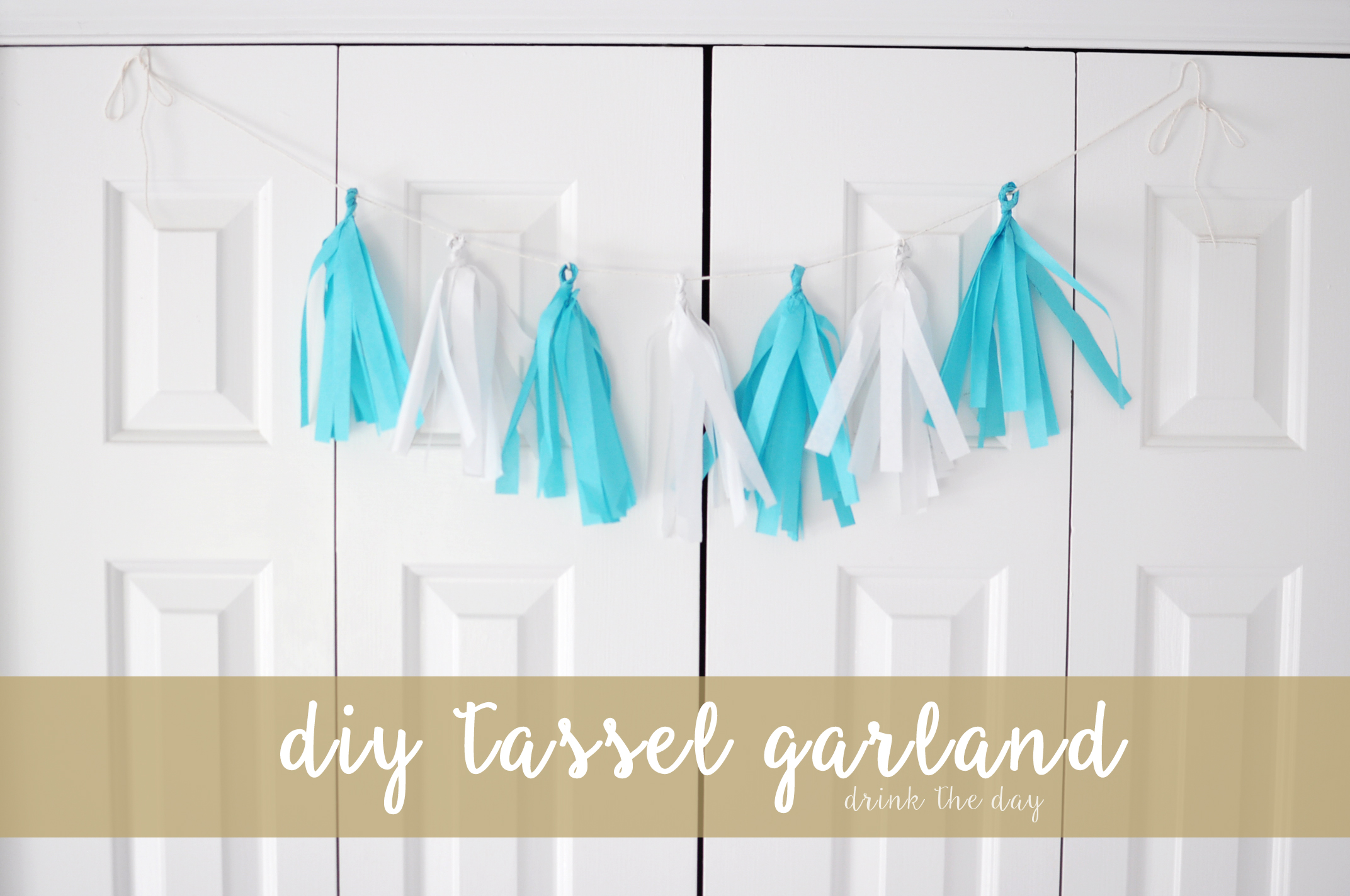 DIY Tissue Paper Tassel Garland | Drink the Day
