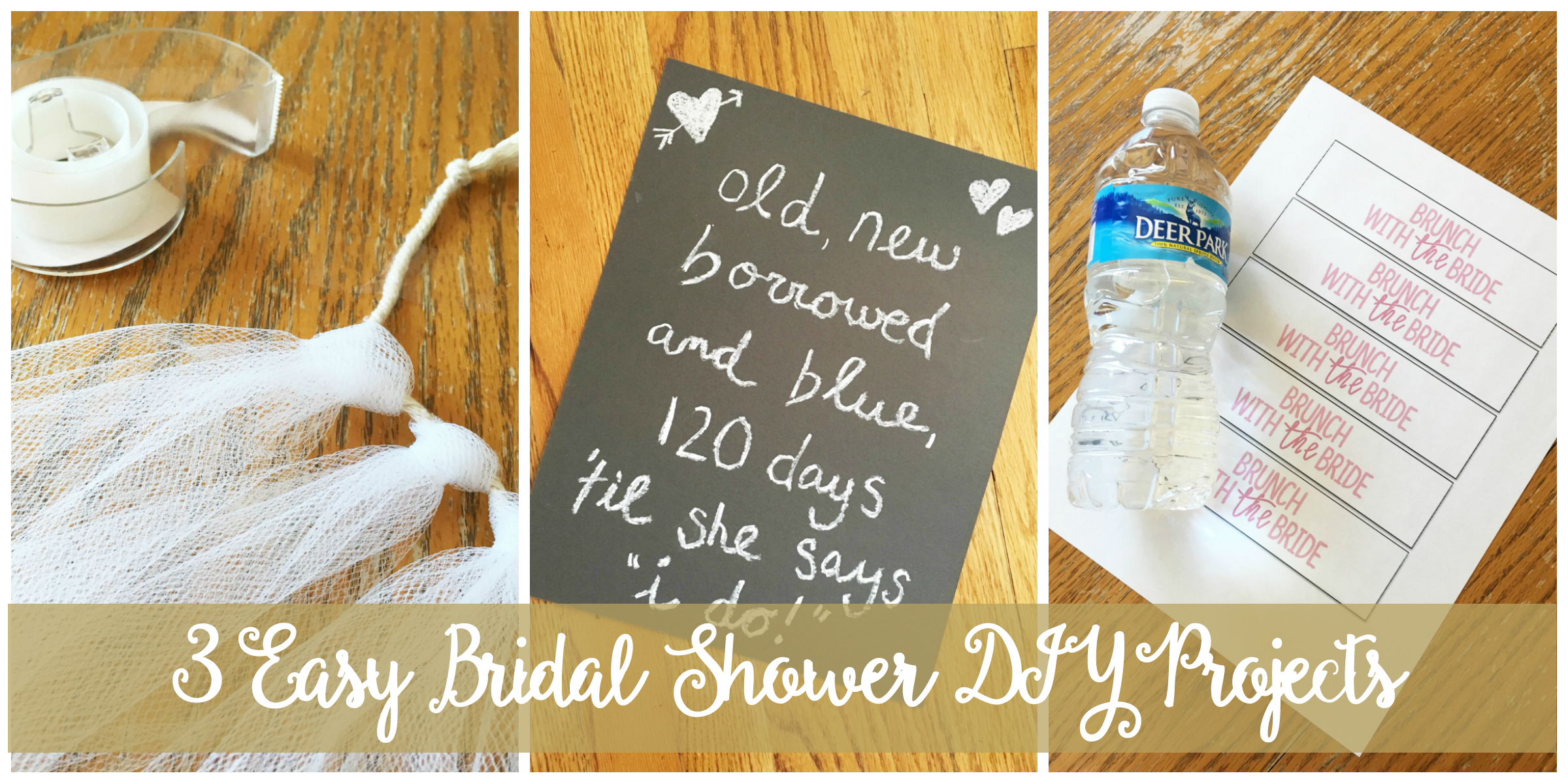 3 Easy Bridal Shower DIY Projects | Drink the Day
