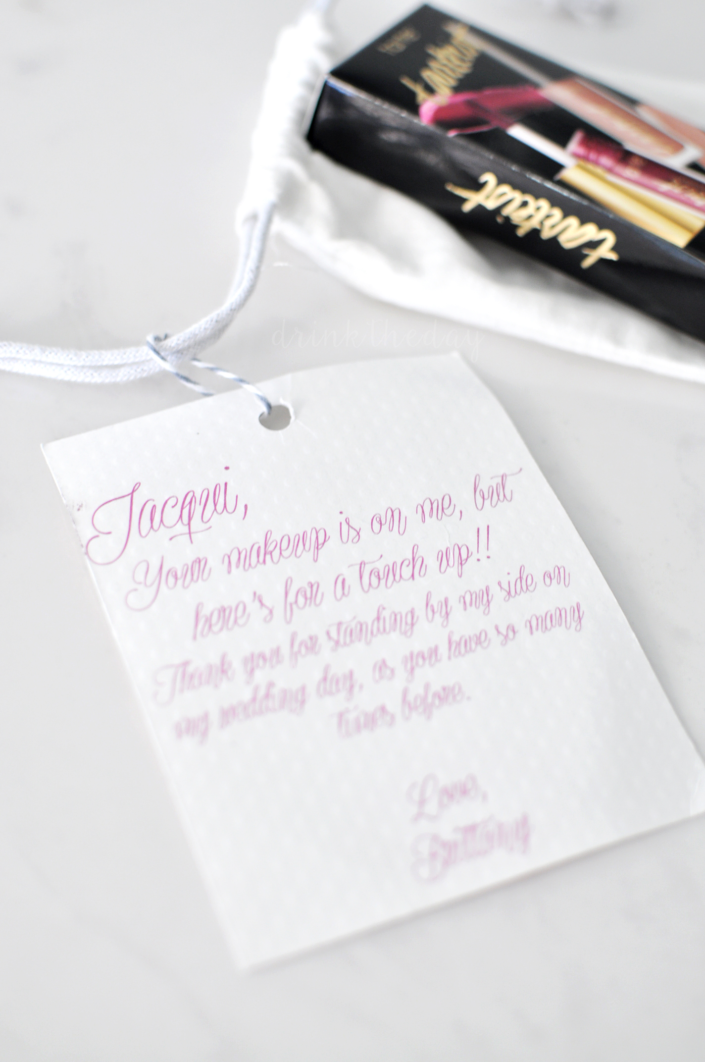 Love & Lipstick Bridesmaid Gift Bags | Drink the Day