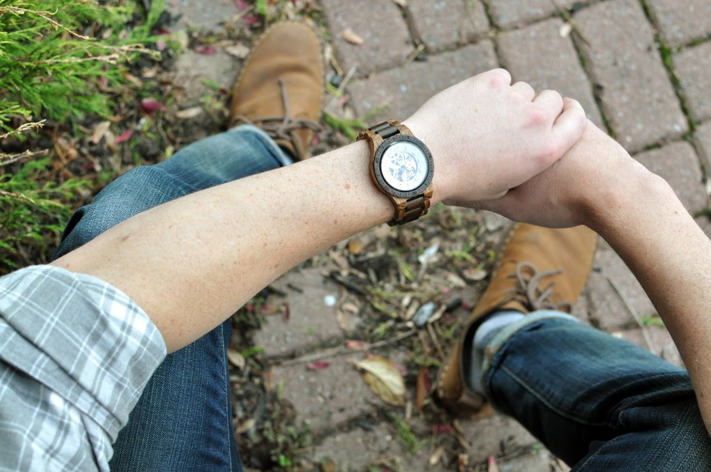 2016 Holiday Gifts for Guys | JORD DOVER series Zebrawood & Dark Sandalwood Wood Watch