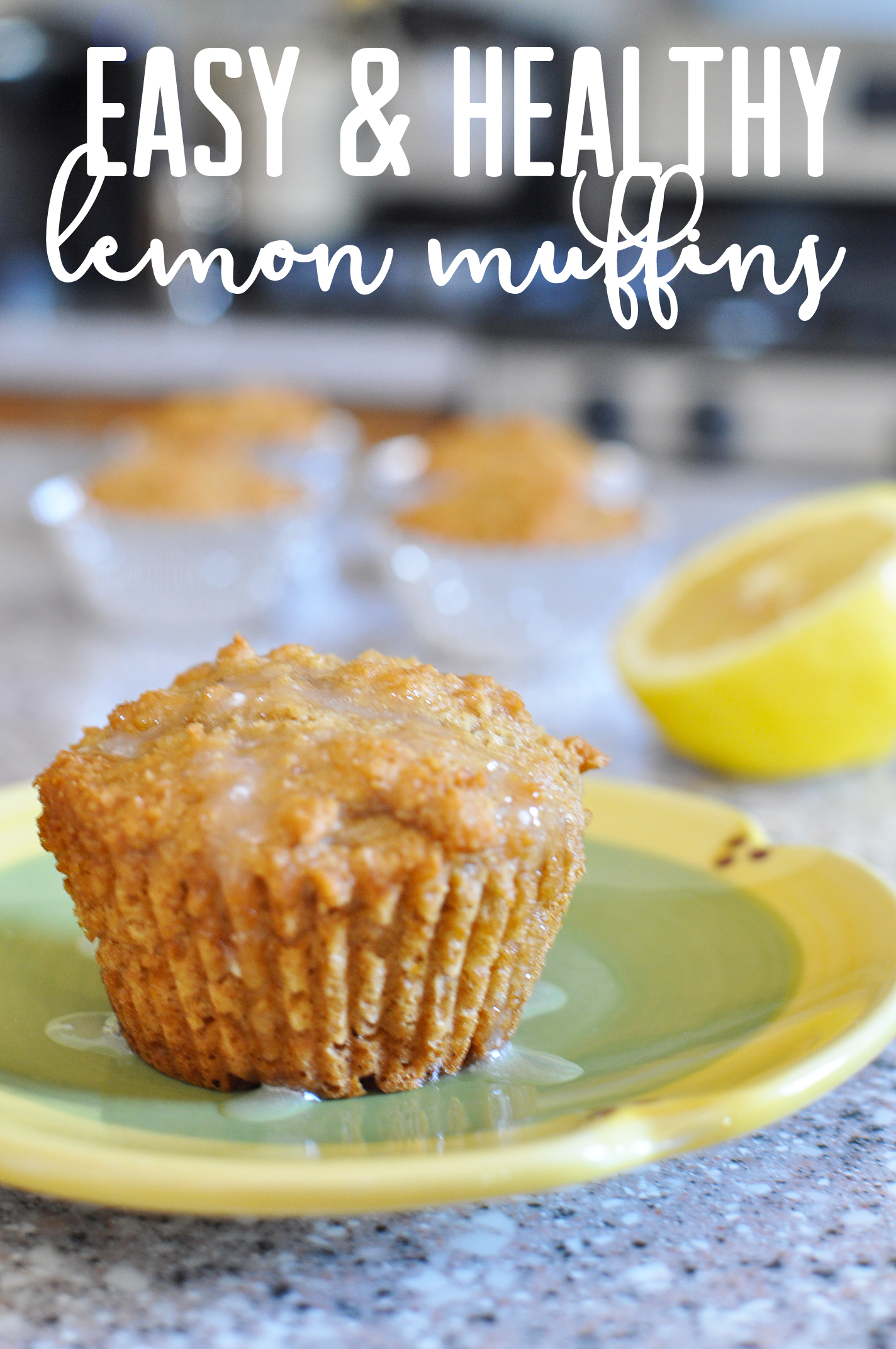 Easy & Healthy Lemon Muffins | Drink the Day