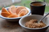 Oatmeal, graoefruit