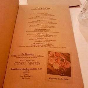 l'atelier libanais menu