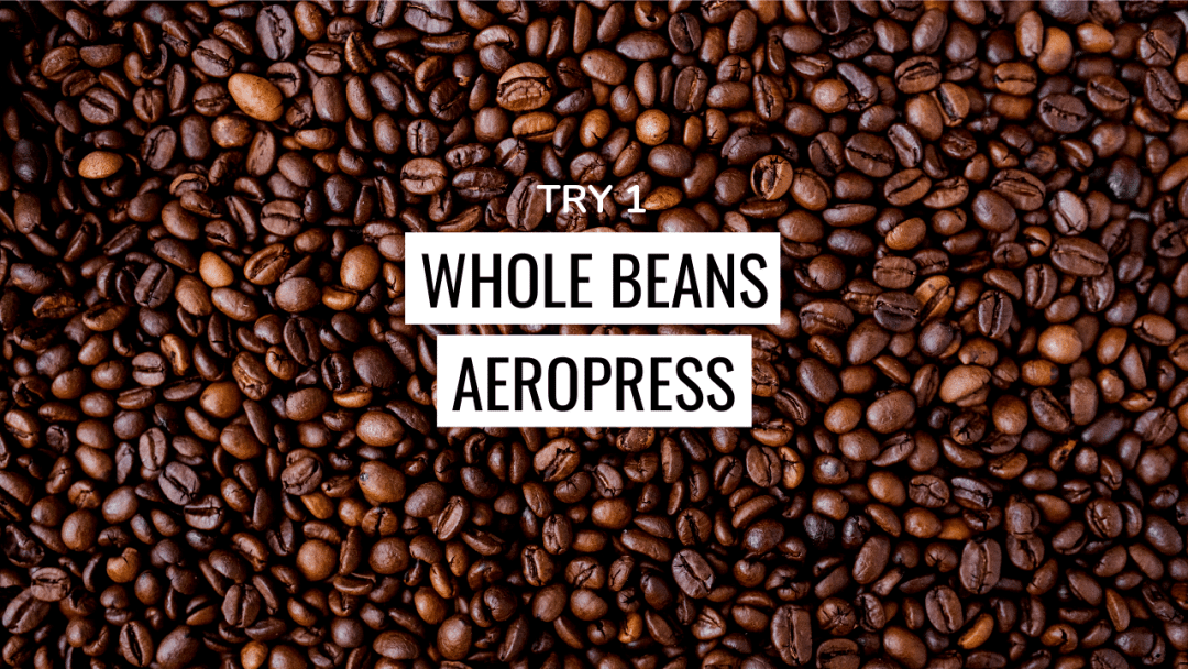 coffee whole beans aeropress