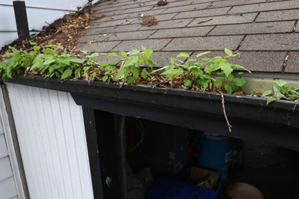 clogged gutters need replacing