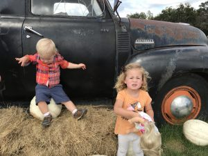 Cute fall photo opp at Sweet Berry Farms in Marble Falls, TX