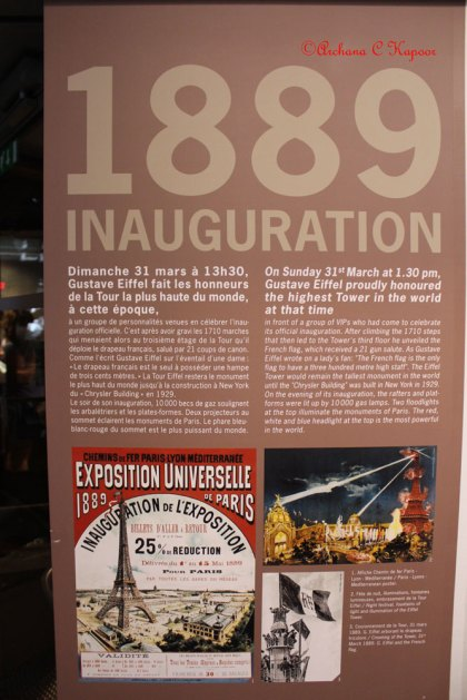History of the tower: The 1889 inauguration information