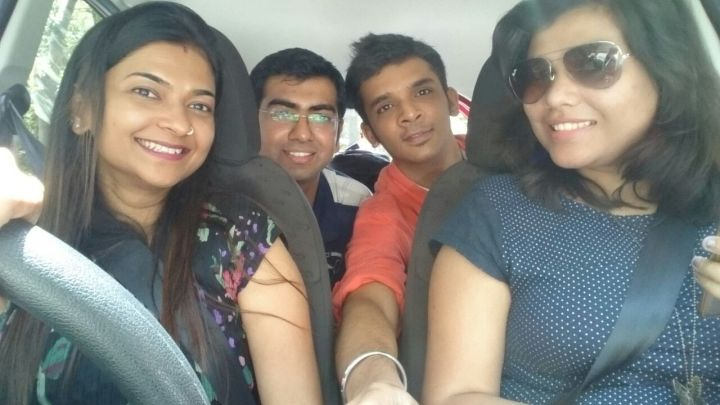 That's me at the wheel with my team mates :)