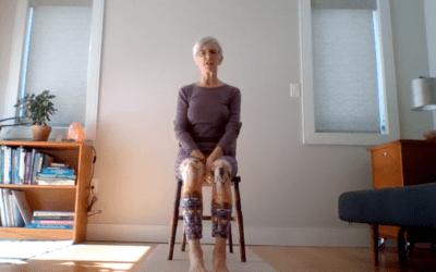 20min Chair Yoga Practice to Calm Down (English)