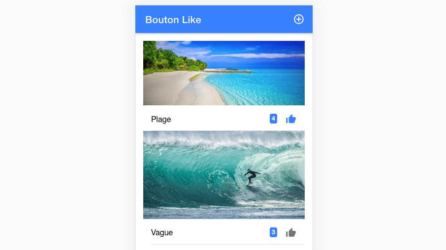 Comment personnaliser l'icône du bouton like ?
