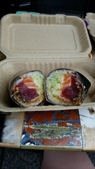My friend's - with salmon and tuna