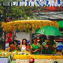 Some Philippine actors and actresses joining the float parade