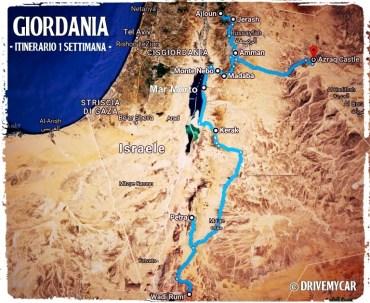 itinerario giordania