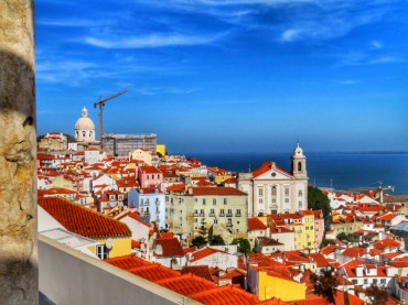 Lisbona dall'alto miradouro