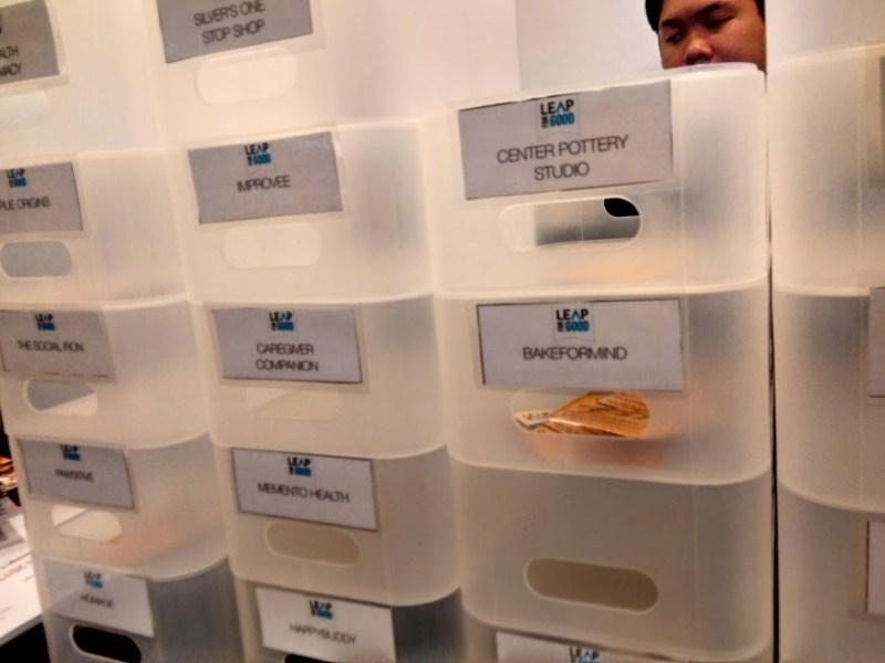 一般来場者用、ビジネスコンテスト投票箱