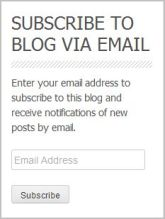 Subscribe to blog by email