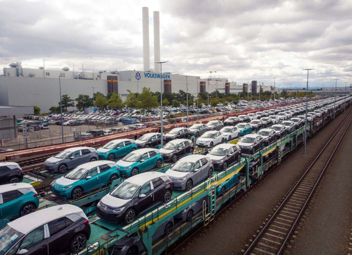 Photo of electric car production in Germany shared by Drive Electric Dayton