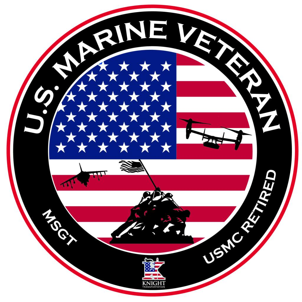 Marine Veteran Circle Sticker without name
