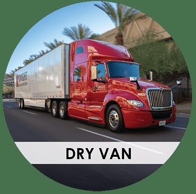 Knight Transportation dry van truck on road