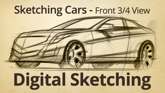 Drawing a Car in Rear 3 quarter View