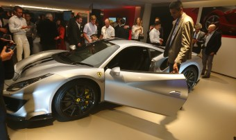 The Ferrari 488 Pista was unveiled at the event also