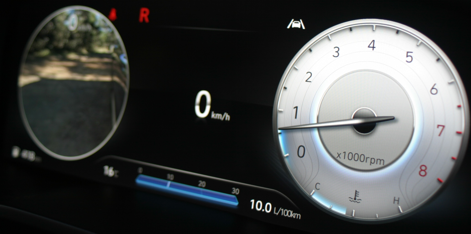 Hyundai Santa Fe Highlander V6 Petrol driver's dash