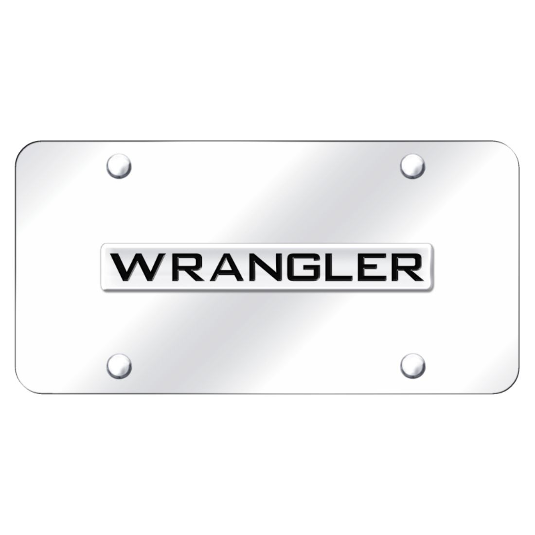 Jeep Wrangler Chrome Stainless Steel License Plate