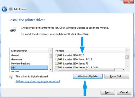 HP PCL 6 Printer drivers download