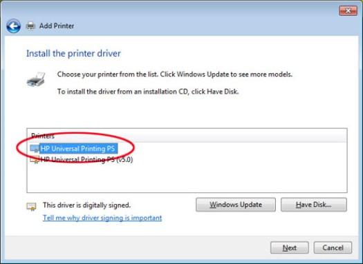HP Universal Print Driver download