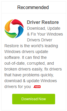Update Windows 8 drivers using driver restore