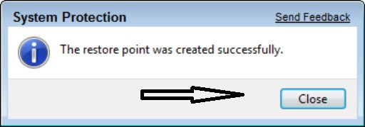 How to create a System Restore point