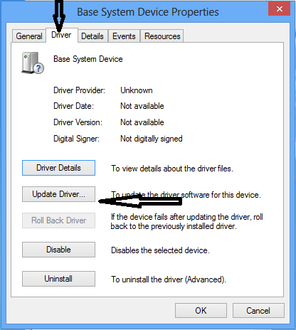 Click the Update Driver button