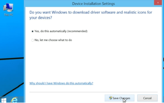windows 8 drivers update automatically settings