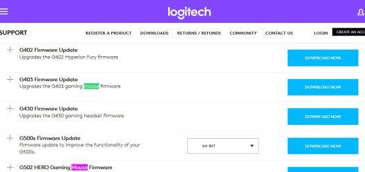 Logitech Support mouse driver downloads windows 10