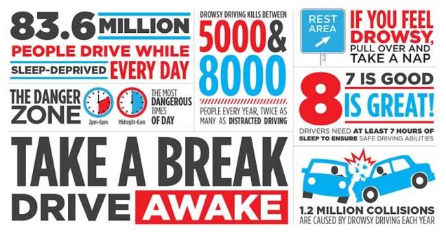 Take a break - drive awake