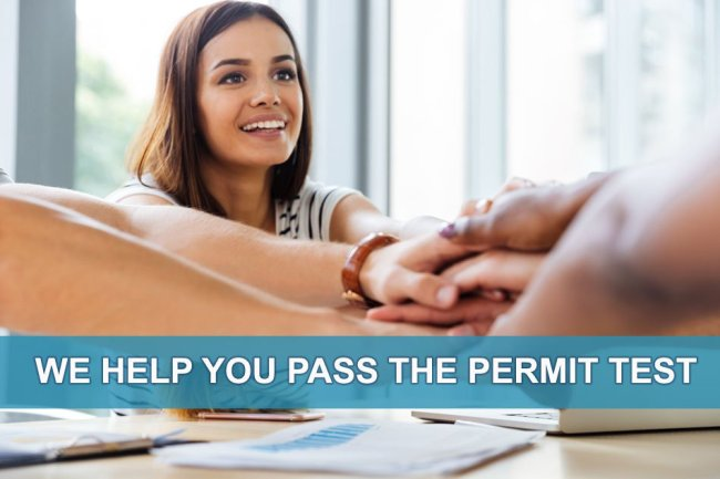 Practice test questions to help you pass the permit test