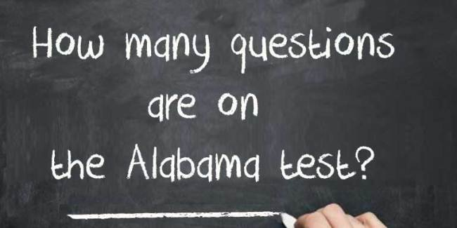 How many questions are on the Alabama Test?