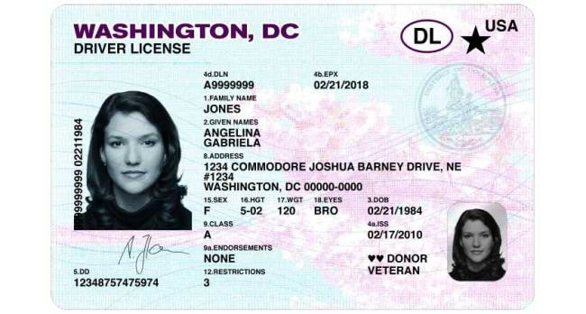 Driver's License - District of Columbia