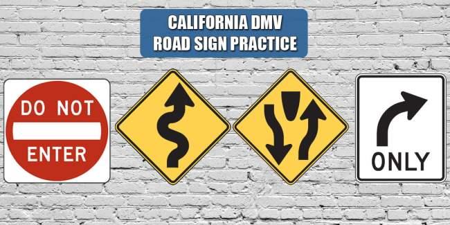 California DMV Road Sign Practice Quiz