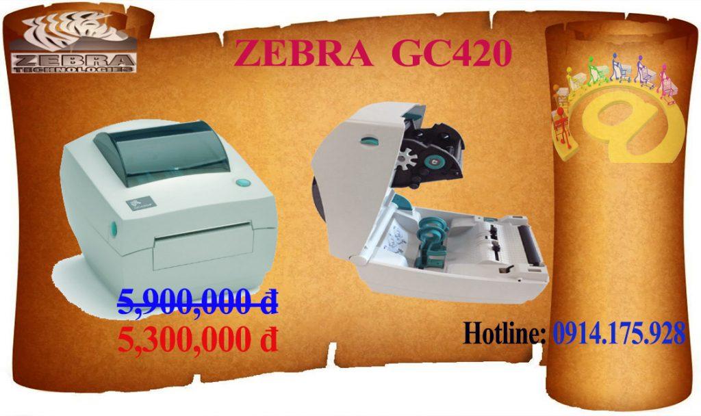 Máy in mã vạch zebra GC420