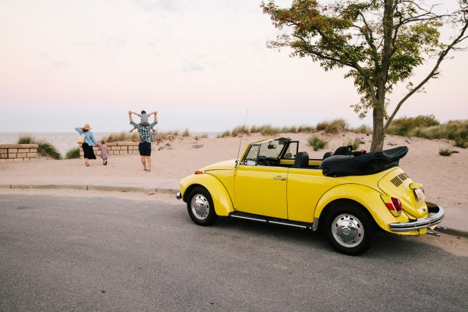 VW Beetle parked Photo